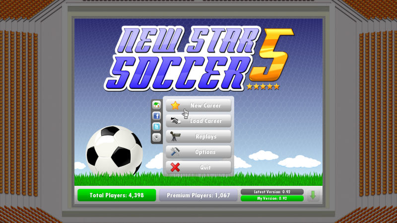 A football game in which you are the star