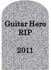 Guitar Hero tombstone