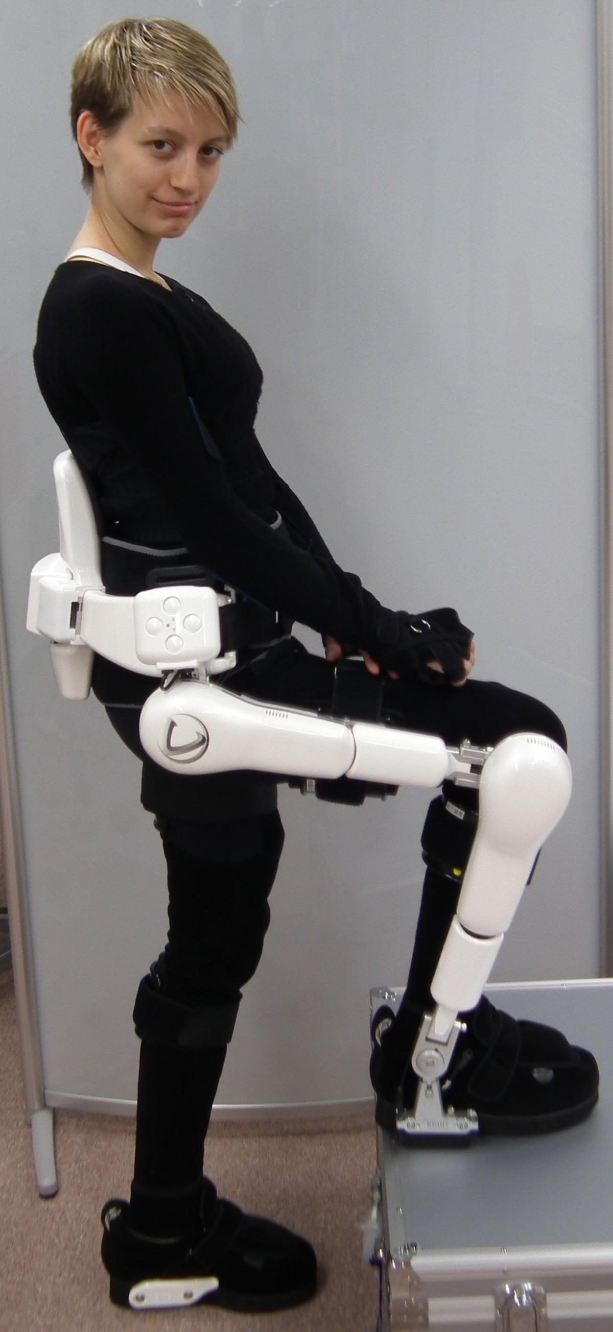 Zoya in a robot suit