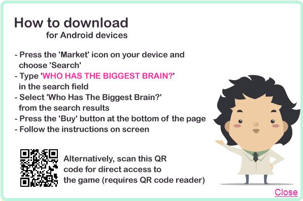 Playfish's purchase screen for Who's Got the Biggest Brain