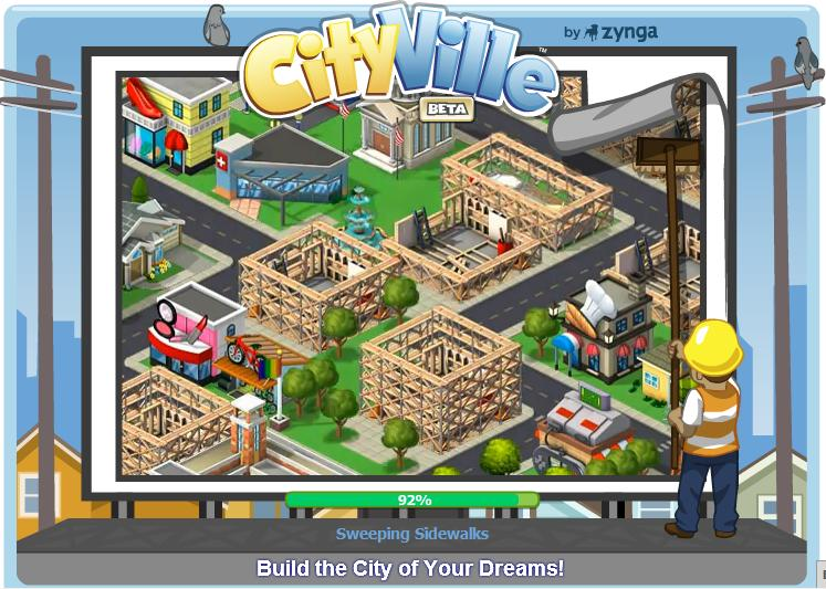 Cityville splash screen