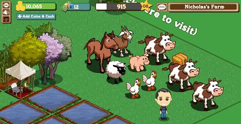 My Farmville farm. Yesterday.